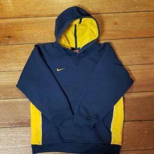 Nike Boys Navy and Gold Long Sleeve Hoodie